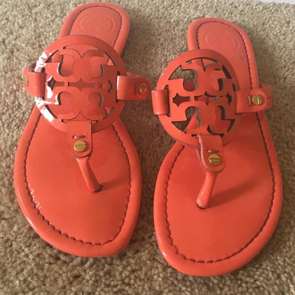 e4f47f887 SALE 👠 TORY BURCH Miller sandal CORAL sz 5.5. M 574cb48741b4e0510200fcd9