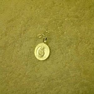 Saint Anthony Medallion Charm Pendant Necklace