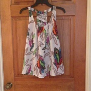 Pretty Rebellious Tops - Size small feathered race back tank