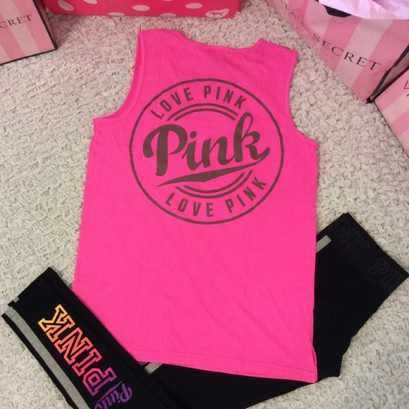 a73ab8d2b1388 VS PINK~ Campus muscle tank top XS Boutique