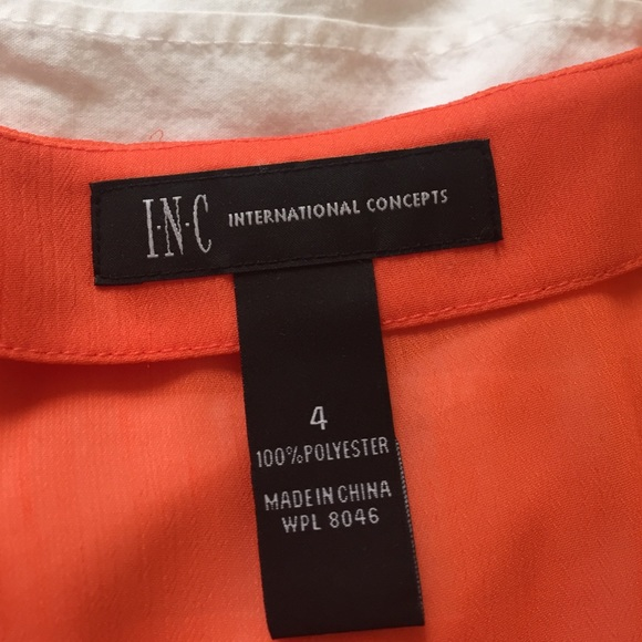 INC International Concepts Tops - Orange shoulder cut-out top