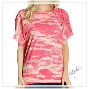 Embellished pink tie dye