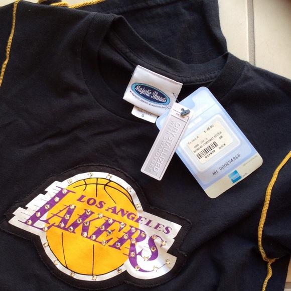 NBA Tops - Swarovski Crystal Lakers Basketball