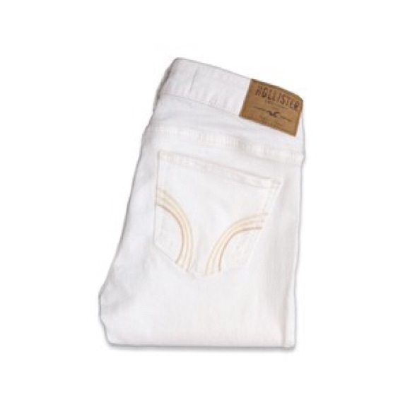 43% off Hollister Denim - NWT HOLLISTER SUPER SKINNY WHITE JEANS ...