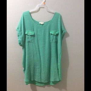 Very cute teal shirt