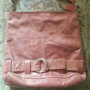 Latico leather tote. Dusty pink, distressed style