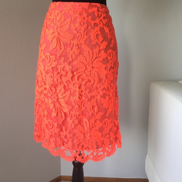 71 next dresses skirts coral lace pencil skirt