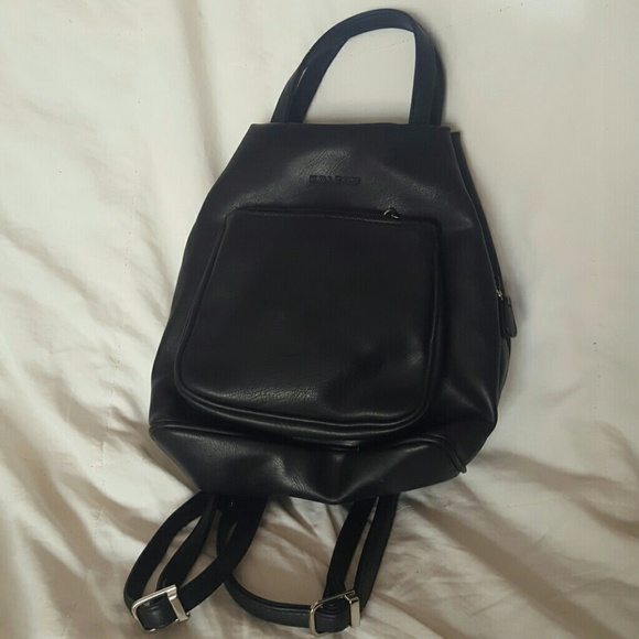 koltov Handbags - Small black backpack purse 170ebbc1c1bcc