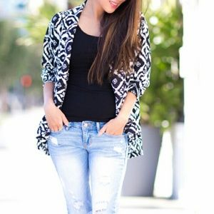 Sweaters - Sale! Black and white cardigan