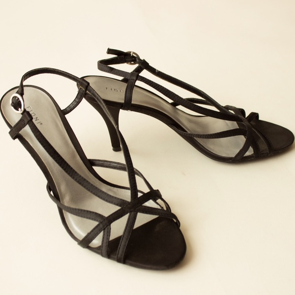 8fda29b4dcf FIONI Clothing Shoes - Black Strappy 3 Inch Heels