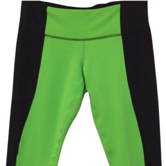 29% off lululemon athletica Pants - Lululemon green and black ...