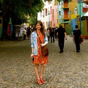 Plenty Tracy Reese printed orange dress