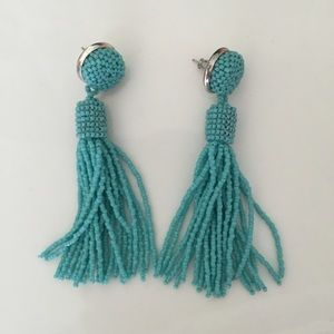 Jewelry - Turquoise tassel earrings