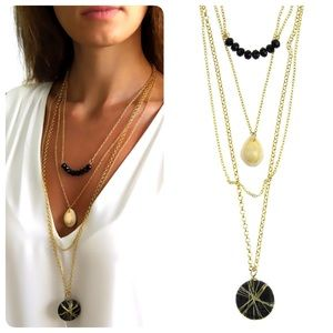 Chiccy Jewelry - Natural Stone Sea Shell Necklace