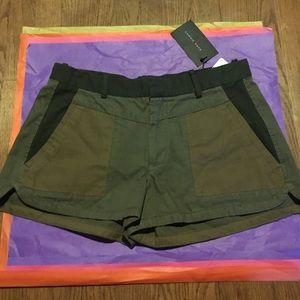 Zara army green camouflage shorts