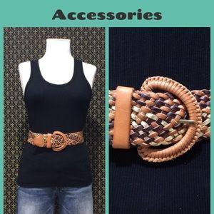 "Anthropologie Accessories - Anthro ""Metallic Basket Belt"" by Linea Pelle"