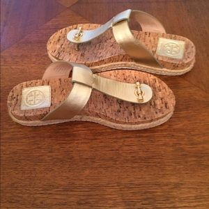 1532f6ed0 Tory Burch Shoes - Tory Burch Cork-Footbed flat thong Sandals size 6