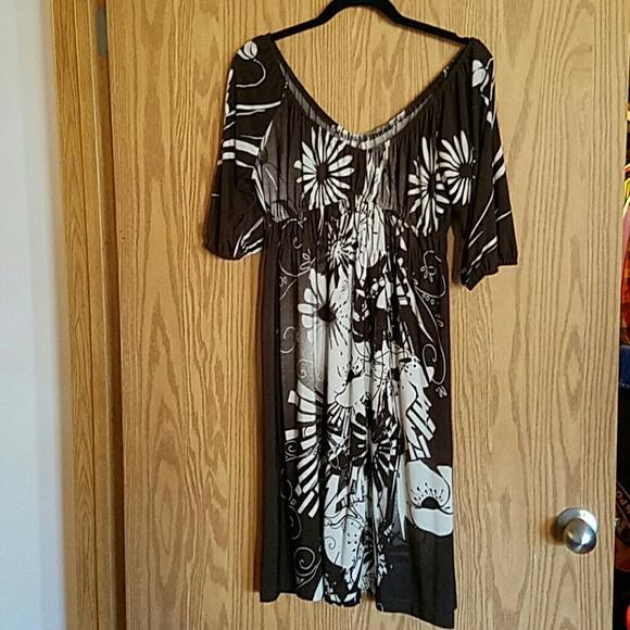 suzi Chin  Dresses & Skirts - Suzi Chin Peasant Jersey Dress sz M (8/10)