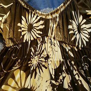 suzi Chin  Dresses - Suzi Chin Peasant Jersey Dress sz M (8/10)