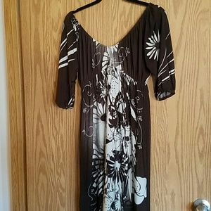 suzi Chin  Dresses - Suzi Chin Peasant Jersey Dress sz M (8/10)