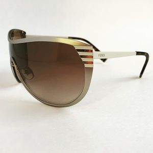Fendi Penquin Stripe Gold & White sunglasses
