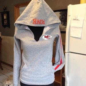 detailed look f5218 9a457 Rare VS PINK & NFL KC Chiefs Hoodie
