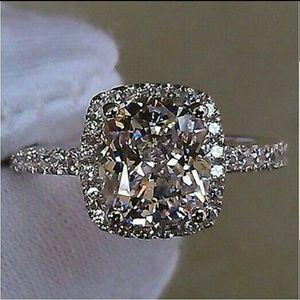Moda Ragazza Jewelry - HP |⭐Luxurious 18k White Gold Designer CZ Ring