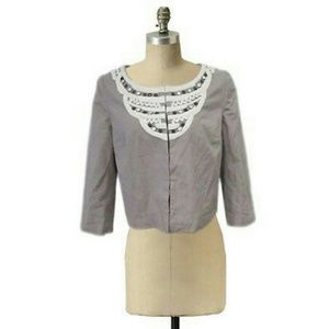 Anthropologie Idra crop jacket embellished Sz M