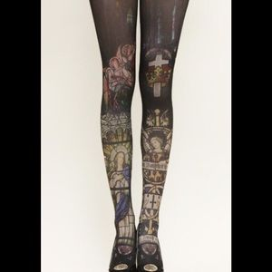 Accessories - New Gothic Stained Glass Tights S M
