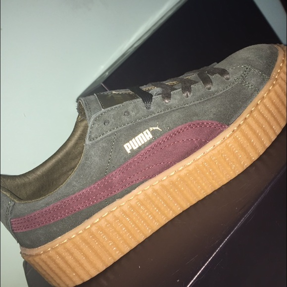 puma rihanna x puma green bordeaux suede creepers from jazmyne 39 s closet on poshmark. Black Bedroom Furniture Sets. Home Design Ideas