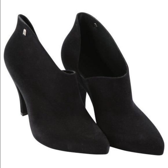 Melissa Shoes Melissa Drama Black Flocked Women