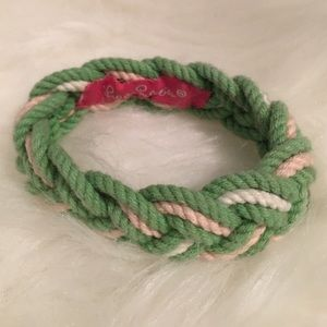 Lilly Pulitzer Jewelry - RARE Lilly Pulitzer Pink and Green Robe Bracelet