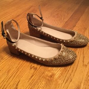 Gold Zara Spike Shoes