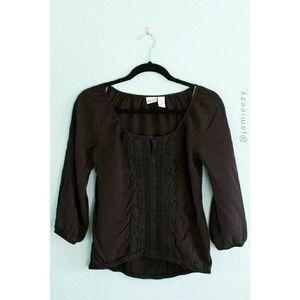 Mudd | Crochet Bib Boho Blouse