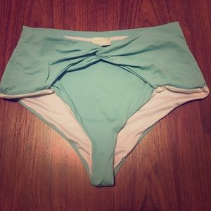 Ondademar Other - New Agua Bendita High teal Waisted Swim bottoms