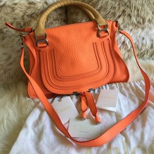 Chloe Handbags - 💯 Authentic Chloe Marcie in Orange Fizz