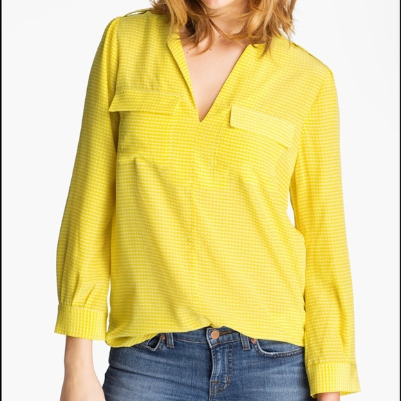 0c55d5b9a18bf Joie Tops - Joie Marlo Yellow Silk Blouse