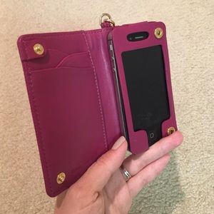 Cole Haan Other - Cole Haan pink patent leather iPhone 4/4s case ☎️