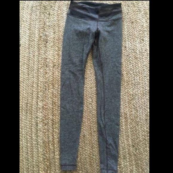 159045dd3b lululemon athletica Pants - Lululemon Brown Herringbone Wunder Unders NWOT