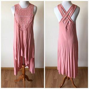 Boutique Dresses & Skirts - Crochet High Low Dress