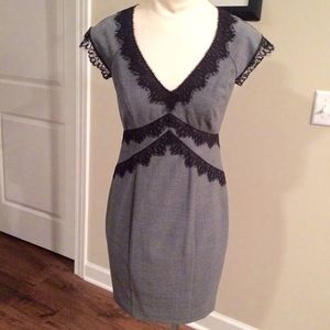 EUC Taylor Charcoal Grey Dress