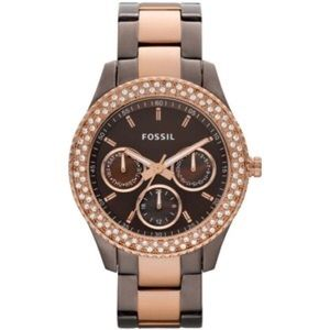 Fossil Stella Brown and Rose Gold Watch