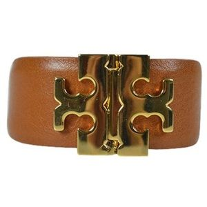 Tory Burch Brown T Hinge Bracelet