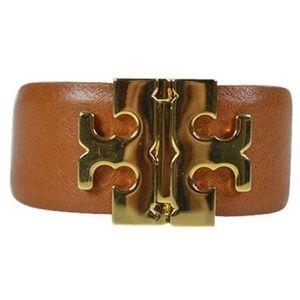 Tory Burch Brown T Hinge Bracelet