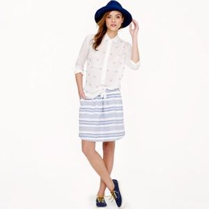 J. Crew Stripe Boardwalk Skirt