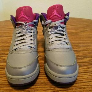 Air jordan retro 5 girls grade school sz