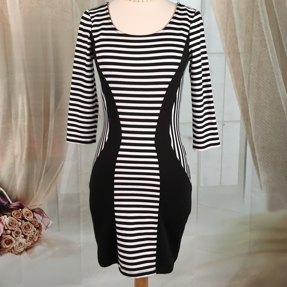 567e33fecc4 Trixxi Black and White Sexy Open Back Dress