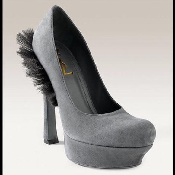 yves saint laurent shoes saint laurent palais mohawk suede rh poshmark com