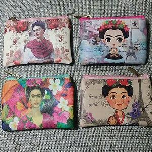 5Pcs Frida Kahlo Printed Coin Purse Wholesale Lot