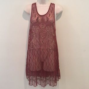 0e3acc23c7719 Free People Dresses - NWOT Free People Red Verona Slip embellished